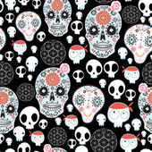Texture of funny skulls — Stock Vector