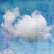 Old crumpled background with clouds — Stock Photo #31630965