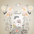 Stock Vector: Thank you card, with font