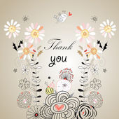 Thank you card, with font — Stock vektor