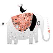Elephant in love — Stock Vector