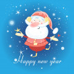Постер, плакат: Cheerful santa claus