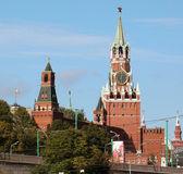 Moscow kremlin uitzicht vanaf de toren en de klok — Stockfoto