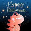 Card with a monster for Halloween — Stock Vector