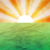Abstract background with the sun and the earth — Stock Photo