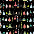 Christmas texture with Christmas trees — Stockvectorbeeld