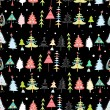 Christmas texture with Christmas trees — Imagen vectorial