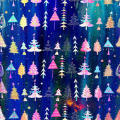 Christmas texture with Christmas trees — Stock Photo
