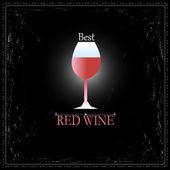 Glas vin tecken — Stockvektor