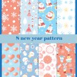 Set of patterns for the new year — Stock Vector