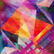 Watercolor abstract geometric pattern — Stock Photo