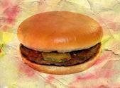 Delicioso hambúrguer com queijo — Foto Stock