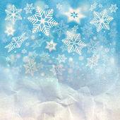 Vintern bakgrund med snöflingor — Stockfoto