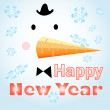 New Year's card with a snowman — Stock Vector
