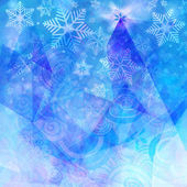 Abstract blue background with snowflakes — Stock Photo