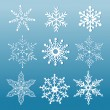 Set of ornamental snowflakes — Stock Vector