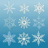 Set of ornamental snowflakes — Stock Vector