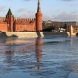 Stock Photo: River landscape with Moscow Kremlin