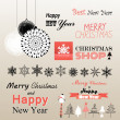 Christmas greetings set — Stock Vector