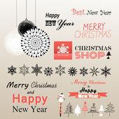 Christmas greetings set — Stock Vector
