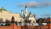 Beautiful churches in the Moscow Kremlin — Stock Photo