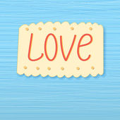 Background with the word love — Stock Vector