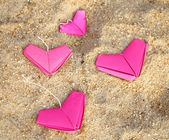 Paper pink hearts — Stock Photo