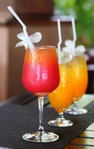 Delicious cocktails — Stock Photo