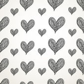 Graphic pattern of hearts — Stock Vector