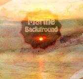 Retro sea background — Stock Photo