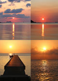 Set of beautiful sunsets — Stock Photo