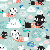 Funny texture of the kittens — Wektor stockowy