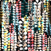 Pattern autumn leaves  — Vettoriale Stock