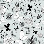 Pattern butterflies and moths — Stock Vector #44882365