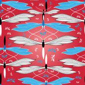 Pattern butterflies — Stock Vector