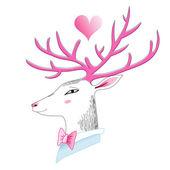 Portrait of a deer  — Stock Vector