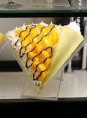 Macro pancakes with fruits — Стоковое фото