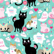 Pattern lovers cats  — Stock Vector #46387221