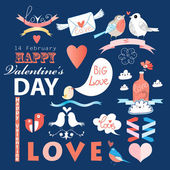 Set the holiday of Saint Valentine's Day — Stock Vector