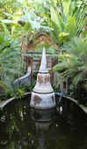 Small pagoda in the pond — Stock Photo