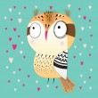 Funny graphic owl — Stock Vector #47245629