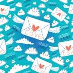 Pattern envelopes love — Stock Vector #48563671