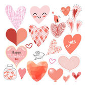 Graphic heart set — Stock Vector