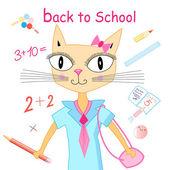 Cat pupil  — Stock Vector