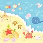 Marine animals — Stock Vector #5398303