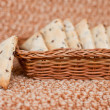 Flax crackers - Stock fotografie