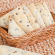 Flax crackers - Stock Photo