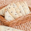 Flax crackers - Stok fotoraf