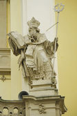 Statue on the cathedral Church in Lviv — Stock Photo