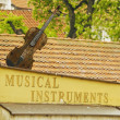 Royalty-Free Stock Photo: Old musical instruments store in Prague